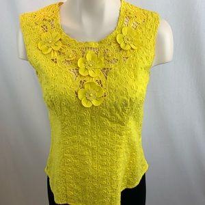 Nanette Lepore Yellow Cholula Top